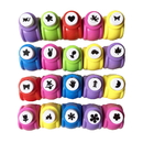 10 PCS Assorted Craft Punchers for Kid Card Scrapbooking, DIY Handmade Sticker, Cricut and Other Cutters