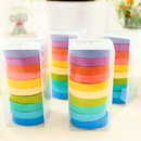 1 Roll Decorative DIY Tape Rainbow Candy Color Sticky Paper Masking Adhesive Tape Scrapbooking & Phone DIY Decoration