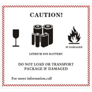 Officeship 160 PCS Caution Lithium Ion Battery Transport Warning Labels, 2.2