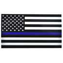 6 PCS Blue Line American Flag Subdued Sticker Decal