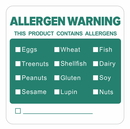 Officeship 500 PCS 2 X 2 inch Writable Allergen Warning Labels