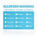 Officeship 500 PCS 2 X 2 inch Writable Allergen Warning Labels