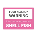 Officeship 500 PCS 2.5 X 3.5 inch Rectangle Allergen Warning Labels