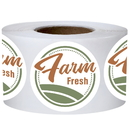 Officeship 500 PCS 2 inch Round Farm Fresh Labels