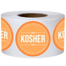 Officeship 500 PCS 2 inch Round Kosher Labels