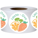 Officeship 500 PCS 2 inch Round Lacto-Ovo Labels