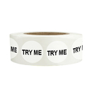 Officeship 500 PCS 0.75 Inch Try Me Stickers