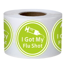 Officeship 200 PCS 2 Inch I Got My Flu Shot Stickers