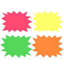 Aspire 100PCS Price Burst Tags, 4 Assorted Bright Color Display Tags