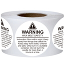 Officeship 500 PCS 1.5 Inch Candle Warning Labels Candle Jar Labels Wax Melting Safety Labels
