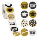 Officeship 500 PCS 1 Inch Graduation Stickers Favor Label 2020 Graduation Printed Designs Featuring Graduation Caps and Diplomas, Graduation Party Favors Labels