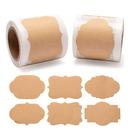 Officeship 300 PCS 1.2 x 2 Inch Gift Tag Labels Natural Kraft Label Stickers for Gifts