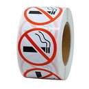 Officeship 500 PCS 1 Inch No Smoking Sign Stickers Label