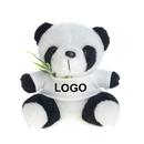 Custom Cute T-Shirt Panda with Bamboo Stuffed Animal, 7-1/2