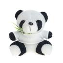 Blank Cute T-Shirt Panda with Bamboo Stuffed Animal, 7-1/2