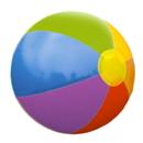 Custom Inflatable Solid Rainbow Beach Ball ( 9