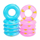 6 Pack - GOGO Mini Swim Ring, Summer Fun Swimming Pool Float Raft Lifebuoy For Rubber Ducks, Barbie Dolls Bath Tube