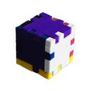 Blank Foam Desktop Puzzle Cube - Mixed Color (2.35
