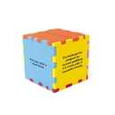 Custom Foam Desktop Puzzle Cube without Holes - Mixed Colors (3