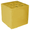 Blank Foam Desktop Puzzle Cube with Holes & Slot - Solid Color (3