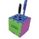Custom Foam Desktop Puzzle Cube with Holes & Slot - Mixed Color (3