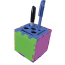 Blank Foam Desktop Puzzle Cube with Holes & Slot - Mixed Color (3
