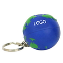 Customized Earth Ball Stress Reliever Key Chain, 1 3/5