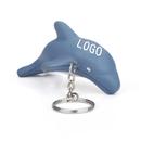 Customized Dolphin Key Chain Stress Ball