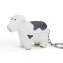 Customized Cow Key Chain Stress Ball