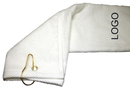 Custom Terry Velour Luxury Hemmed Tri Fold Golf Towel, 16