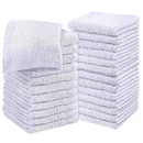 Highly Absorbent Soft Microfiber Fast Drying Towel Hair Wrap Dry Hair Towelette, 100% Ring Spun Cotton, Soft Feel Fingertip Towels, 12