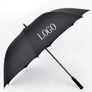 Custom Non-folding 190T Polyester Semi-automatic Golf Umbrella, 60