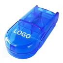 Custom Pill Box with Cutter, Pill Splitter, 3.5