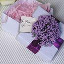 Custom Elegant Flower Wedding Favor White Box with Tag, 2.56