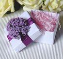 Blank Elegant Flower Wedding Favor White Box with Tag, 2.56