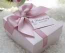 Personalized Wonderful Small Pink Bowknot Wedding Favor Box with Custom Tag, Wedding Favor, 2.76