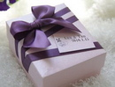 Personalized Delicate Purple Bowknot Wedding Favor Boxes with Custom Tags, 2.76