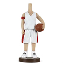 Custom Bobbleheads - Man in White Basketball Clothing, Approx. 7