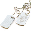 Custom Stainless Steel Dog Tag with Ball Chain, Laser Engraved