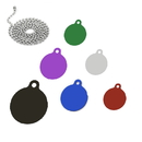 Custom Sport Balls Shapes ID Tags with Head Chain, Laser Engraved