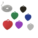 Custom Heart Shaped Dog Tag with Ball Chain, Laser Engraved