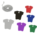Blank T-Shirt shaped Pet ID Tags with Ball Chain
