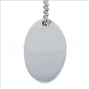 Custom Anodized Aluminum Oval ID Tags with Ball Chain, Laser Engraved
