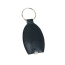 Blank Faux Leather Light Up Keychain, 2 1/2