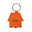 Custom Leatherette House Shaped LED Key Tag, 2 1/8