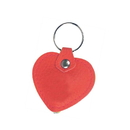 Blank Faux Leather Heart Shaped Light Up Keychain, 2