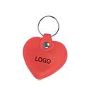 Custom Faux Leather Heart Shaped Light Up Keychain, 2