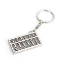 Blank Silver Tone Mini Abacus Pendant Keychain