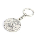 Custom 50 years Perpetual Calendar Compass Key Chain, Laser Engraved