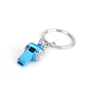 Custom Mini Coach Whistle Key Ring, Laser Engraved